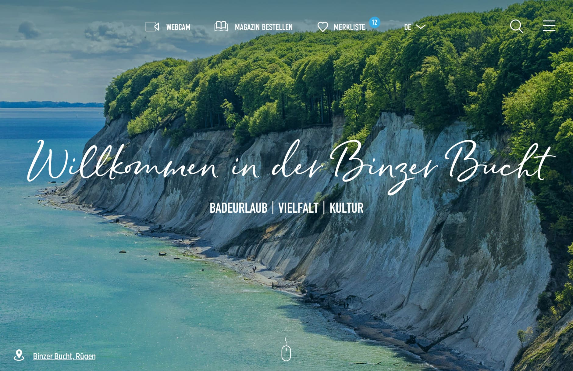 Binzer Bucht Website by BOOYA Studio
